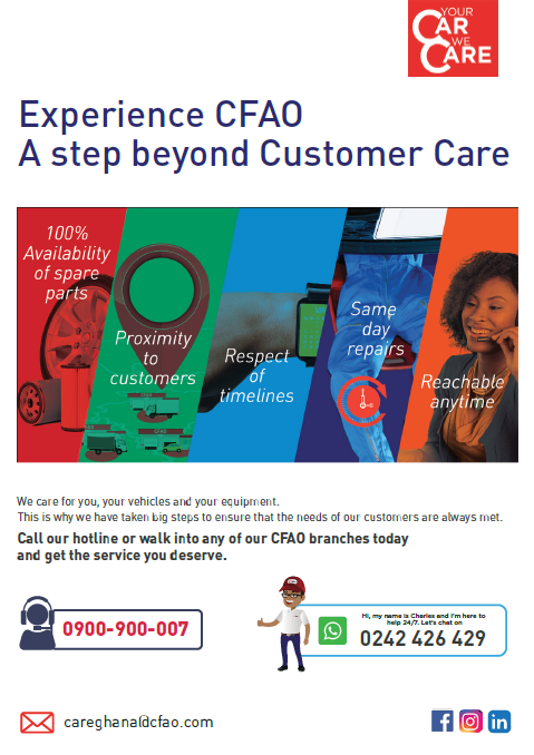 CFAO LAUNCHES CUSTOMER CARE POLICY